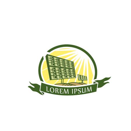 Plantilla de concepto de diseño de logotipo de energía solar Foto de archivo - 84564854