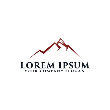 山のロゴ デザイン コンセプト テンプレート  イラスト・ベクター素材