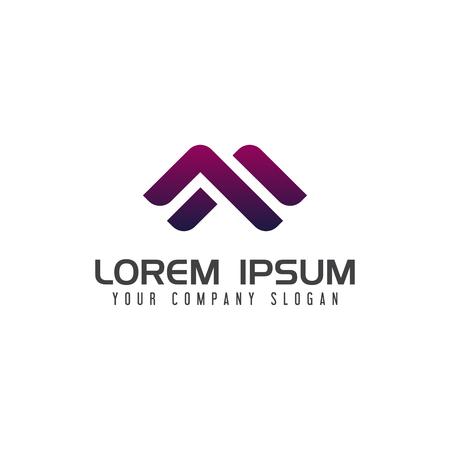Modern Letter M logo design concept template Ilustracja