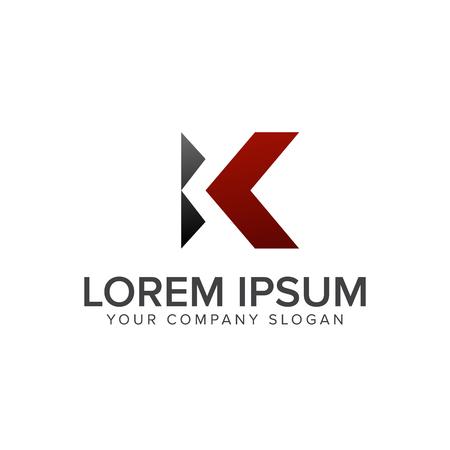 Letter K logo ontwerp concept sjabloon