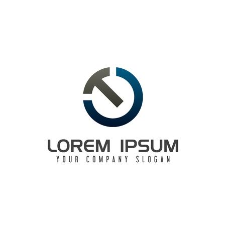 Letter T technology logo design concept template Illustration