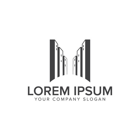 Urban Building logo design concept template Stock fotó - 84792880