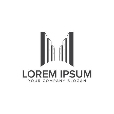 Urban Building logo design concept template Illusztráció