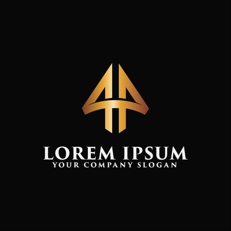 Luxe letter A embleem Logo ontwerpsjabloon concept Stock Illustratie