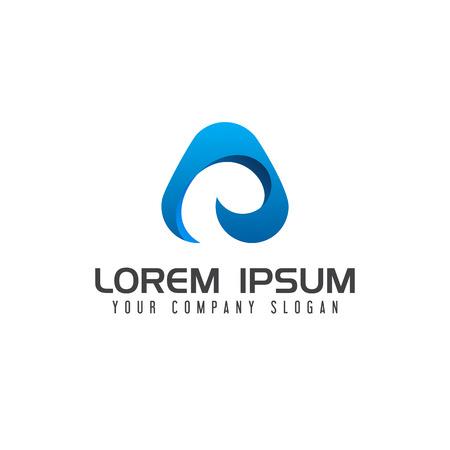 現代文字技術のロゴ デザイン コンセプト テンプレート  イラスト・ベクター素材