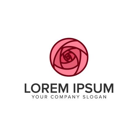 튤립 꽃 로고 디자인 컨셉 템플릿