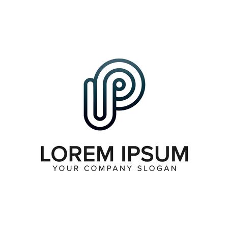 simple letter P Logo design concept template