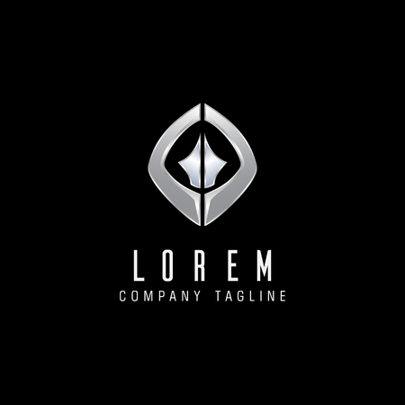 letter G metal logo design concept template Illustration