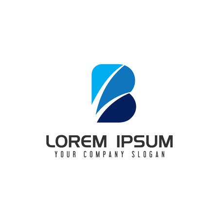 modern Letter B logo design concept template