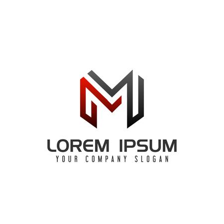 현대 편지 M 로고 디자인 컨셉 템플릿