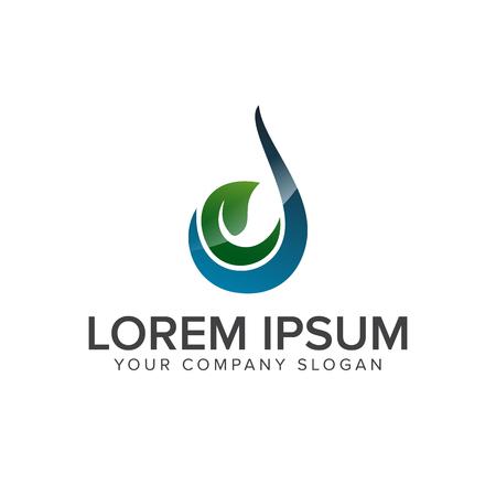 Green Drop Logo design concept template