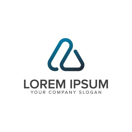 現代文字技術のロゴ デザイン コンセプト テンプレート。  イラスト・ベクター素材