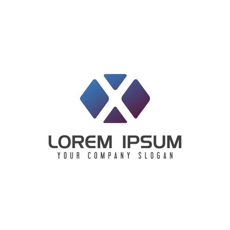 Letter x media design concept 向量圖像