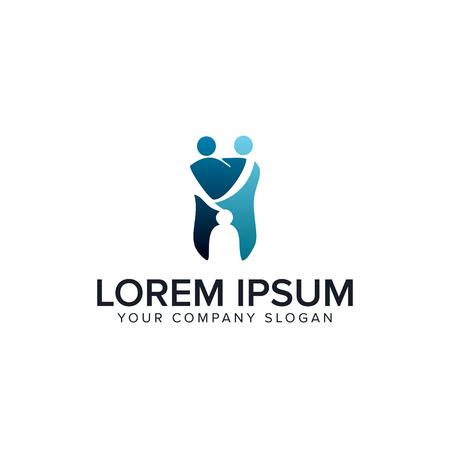 medical dental people logo design concept template