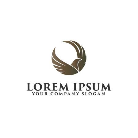luxury bird logo design concept template Ilustração