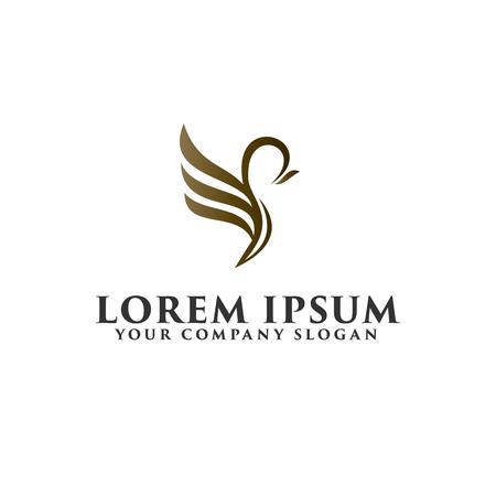 luxury bird logo design concept template Vettoriali