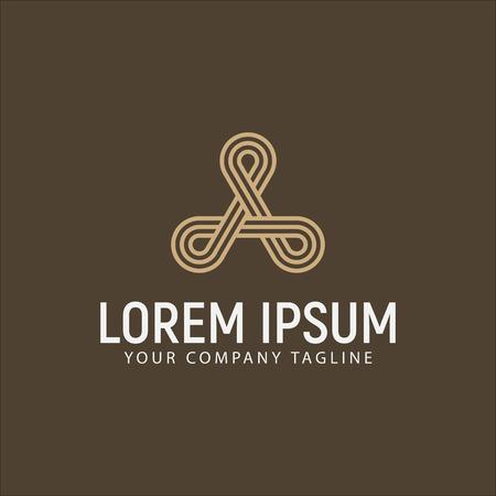 高級モダンな文字ロゴ デザイン コンセプト テンプレート
