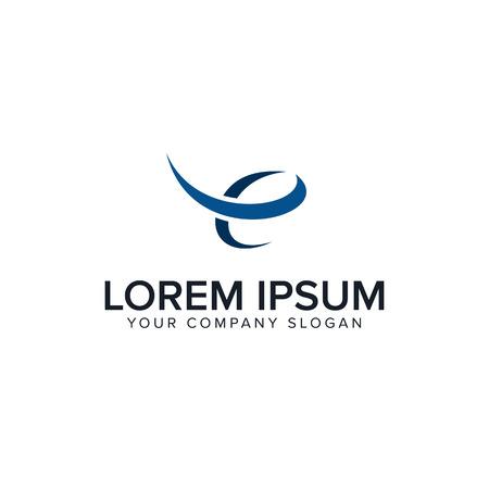 Logo di lettera E. modello di concetto di progettazione di finanza aziendale Archivio Fotografico - 85116479