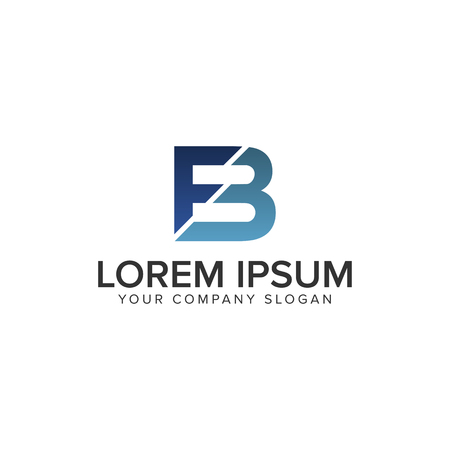 letter FB logo design concept template Vettoriali