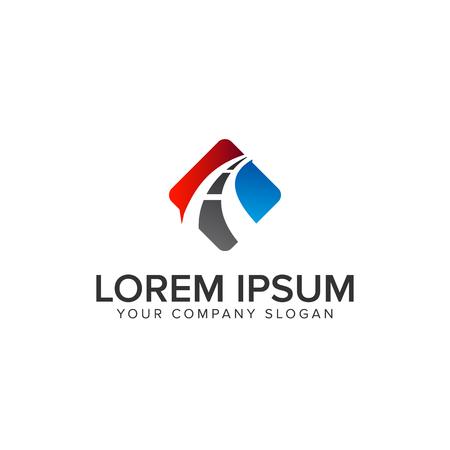 road logo design concept template