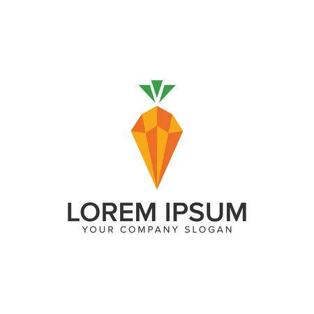 carrot logo design concept template