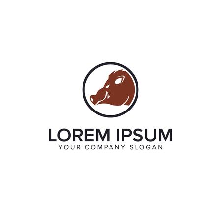 babi hutan logo design concept template
