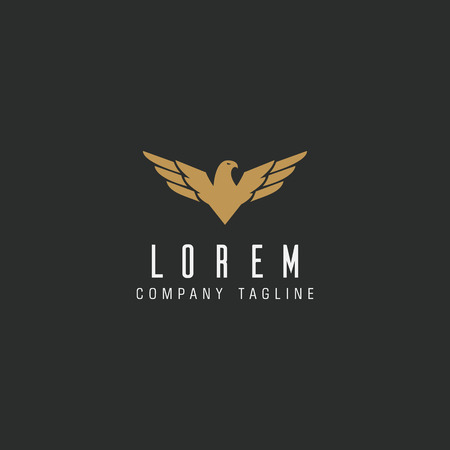 luxury bird logo design concept template 向量圖像