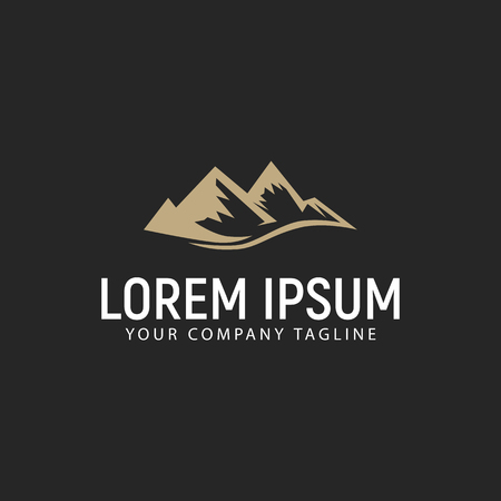 mountain logo design concept template Illustration