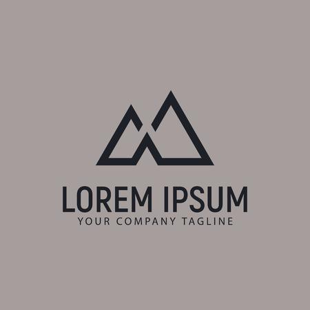 modern minimalist mountain logo design concept template Imagens - 85116385