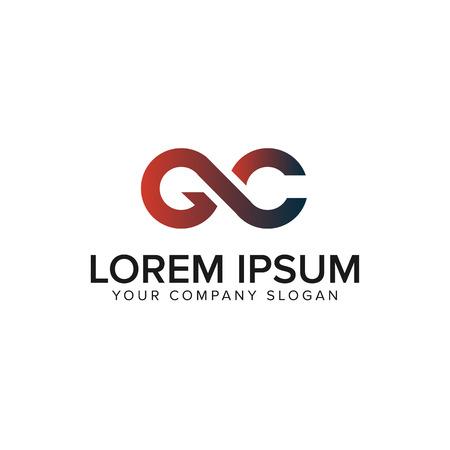letter GC logo design concept template