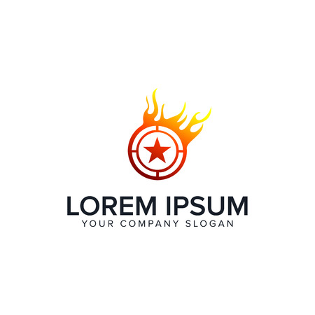 star fire logo design concept template