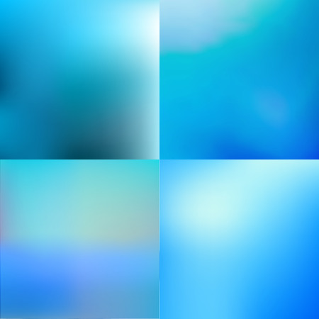 青い海と技術ぼやけて baackground セット  イラスト・ベクター素材