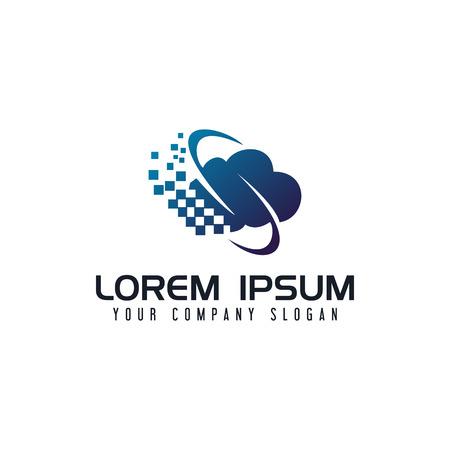 Communications internet cloud logo design concept template