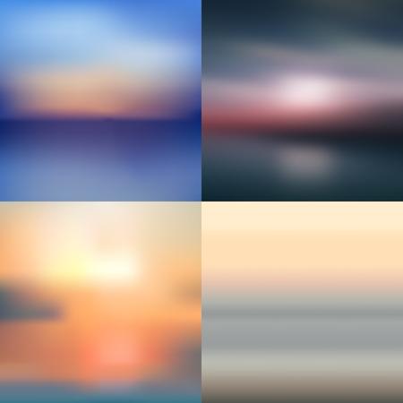 sea summer sky blurred background
