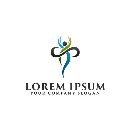 Healthy people Logo design concept template 일러스트