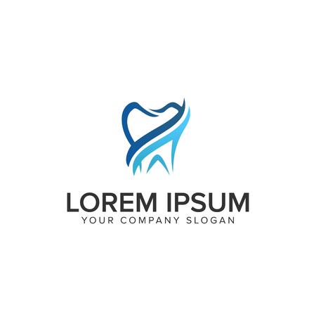 tandheelkundige logo ontwerp concept sjabloon