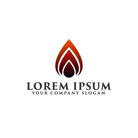 fire ignition Logo design concept template