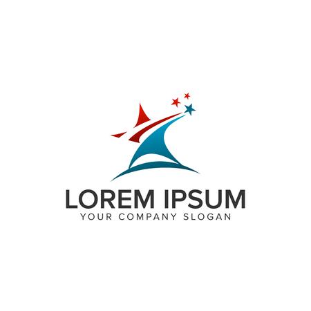 Star succes Logo design concept template