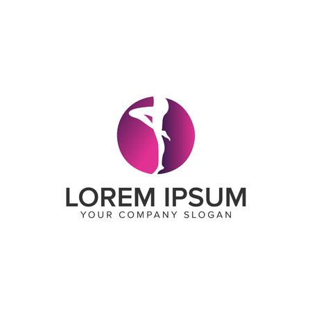 women leg Logo design concept template