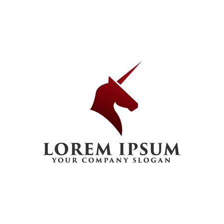 luxury unicorn Logo design concept template