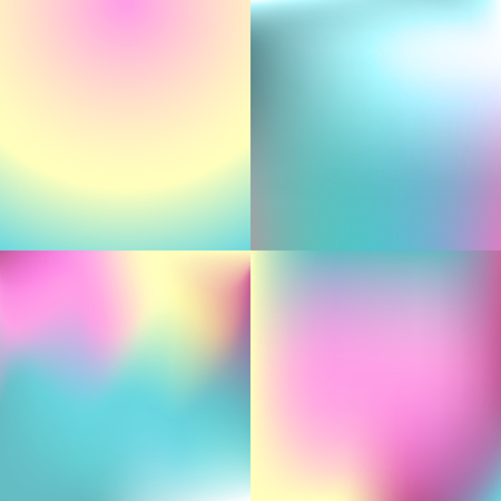 Sweet color blurred background set . pastel color design Illustration