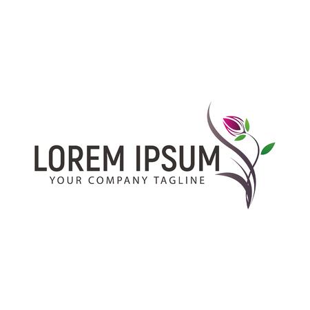 Bloem Logo ontwerpsjabloon concept