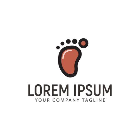Minimalist Footprint Logo design concept template