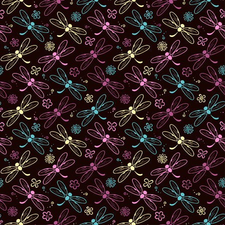 dragonfly pattern background