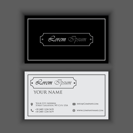 classic vintage Creative and Clean Business Card Template