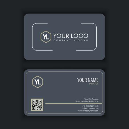 Modern creatief en schoon visitekaartje met grijze kleur Stockfoto - 87041828
