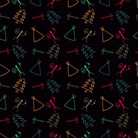primitive symbol pattern background Stock Vector - 87041850