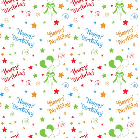 Feliz cumpleaños patrón de fondo Foto de archivo - 87041852