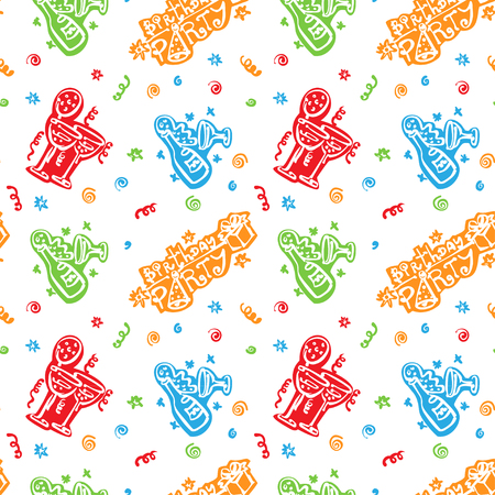 colorful Happy birthday pattern Background Illustration