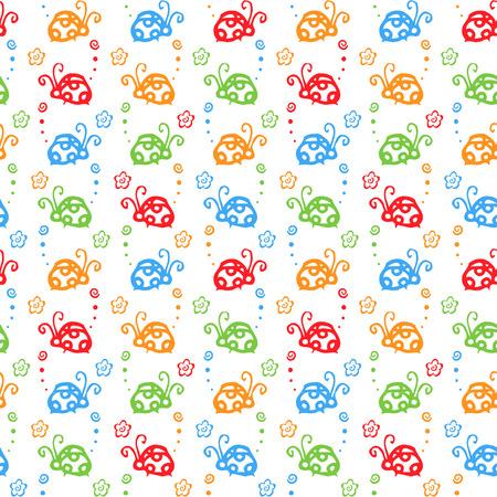 ladybug: beetle colorful pattern background Illustration